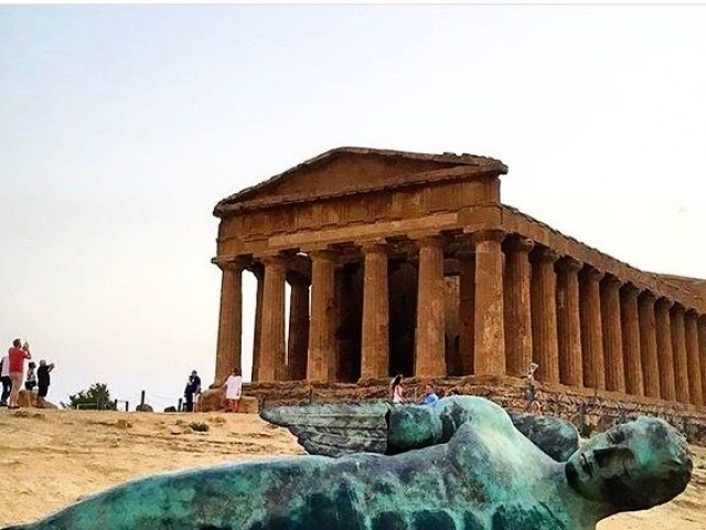 Igor Mitoraj UNESCO world heritage archaeological concordia  Agrigento Selinunte temples ancient history greek ruins art culture sicily valley of the temples mythology explore discover