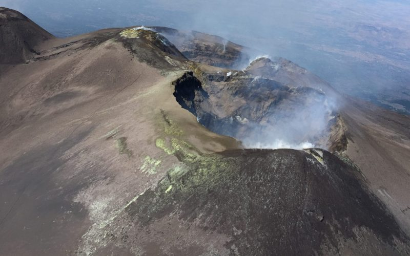 Fly me to the Moon – Helicopter Flight Over Etna Volcano